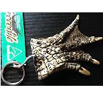 Krokodil Fuß Schlüsselanhänger groß 10cm