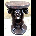 Holz Hocker Asmat Tisch Ständer 45cm