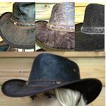 Soft Antik Lederhut knautschbar  3 Farben