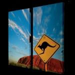Bild Uluru +Känguruschild 2 Teile  1,00 m