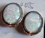 Opal Ohr Stecker 925 Silber 1,2cm
