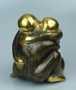 10x bronze couple in love 4 cm