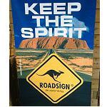 Poster Stoffbanner   Uluru keep the spirit