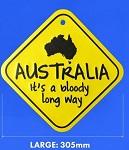 Metallschild Australia bloddy long way23cm