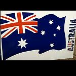 Aufkleber Flagge XXL 38x28cm