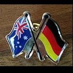 Pin  Flagge  Germany-Australia