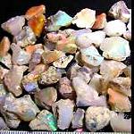 echte Opal Bruchstücke 10 Stück+Schachtel