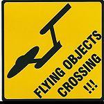 Aufkleber Australian UFO crossing 3er Set