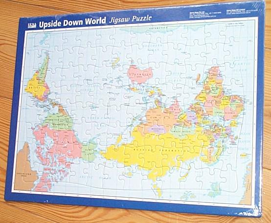 Puzzle upside down world map 34cm kaufen im australien versand shop