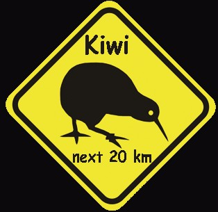 aufkleber roadsign kiwi new zealand kaufen im australien versand shop. Black Bedroom Furniture Sets. Home Design Ideas