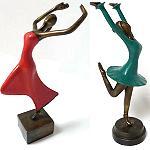 33cm Bronze Statue Figur Skulptur Tänzerin