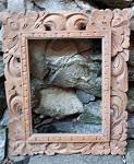 Bilder Spiegel Rahmen aus Holz 29cm