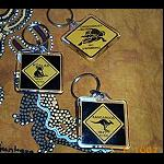 Schlüsselanhänger Roadsign Hartplastik