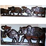 Elefanten Afrika Holz handgeschnitz 100cm