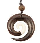 Kette Muschel Kreisel Spirale 4cm