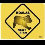 Mousepad  Koala  Straßenschild Angebot