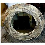Einzigarter Spiegel aus Strandgut  80cm