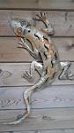 Gecko Echse ca. 65 cm Edelrost