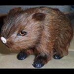Wombat Miniaturfigur aus Fell ca 11cm