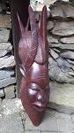 Hart Holz Maske Krieger Kopf 60cm