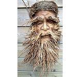 Maske -alter Mann- aus Bambuswurzel 47cm