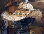 Strohhut Sommer Outback Style Muscheln