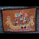 Sarong Tuch handgefertigt 110x160 KANU