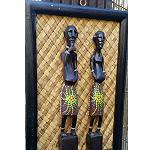 Holzfigur Mimi Aborigines Mann+Frau 30cm