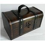 Holzkiste Kiste Schatztruhe 25x14,5cm