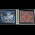 3x Magnet Platten mit Aborignies Malerei