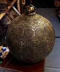 Metall Kugel Laterne Lampe 34cm Antik