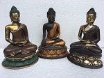 Bronze-Buddha ca. 17 cm