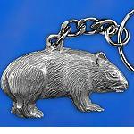 Metall Schlüsselanhänger Wombat 4cm