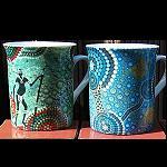 Kaffeebecher Tasse Aborigines Malerei