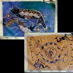 Poster mit Aborigines Malerei 40x60cm