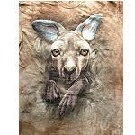 Kinder T Shirt Känguru Beutel