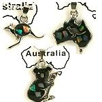 Silber Kette Australien Motive mit Opalstückchen