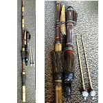 Blasrohr mit Köcher aus Bambus 106cm