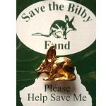 Pin Bilby goldfarbig - Save the Bilby