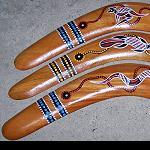 Bumerang Holz Handarbeit 40cm