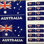 Aufkleber Australien Flaggen 26er Set 11cm