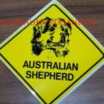 Aufkleber Australian Shepherd 9x9cm