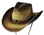 Strohhut Sommer Outback Style Türkis