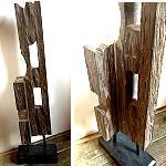 Altes Bauholz mit Ständer 74x15cm