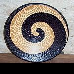 Ton Teller Schale+ Aborigines Malerei 38cm