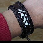 Leder Armband mit Haizahn
