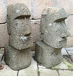 Osterinsel Moai Figur echt STEIN 30cm