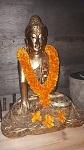 Buddha Blumen Kette Girlande 75cm Umfang