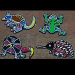 Pin Magneten Aborigines Malerei 5cm
