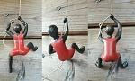 10x set of 3  wall climber brown red
